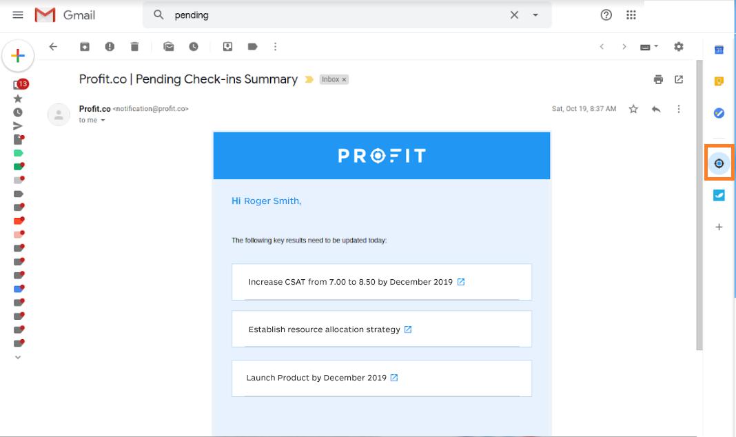 gmail add profit