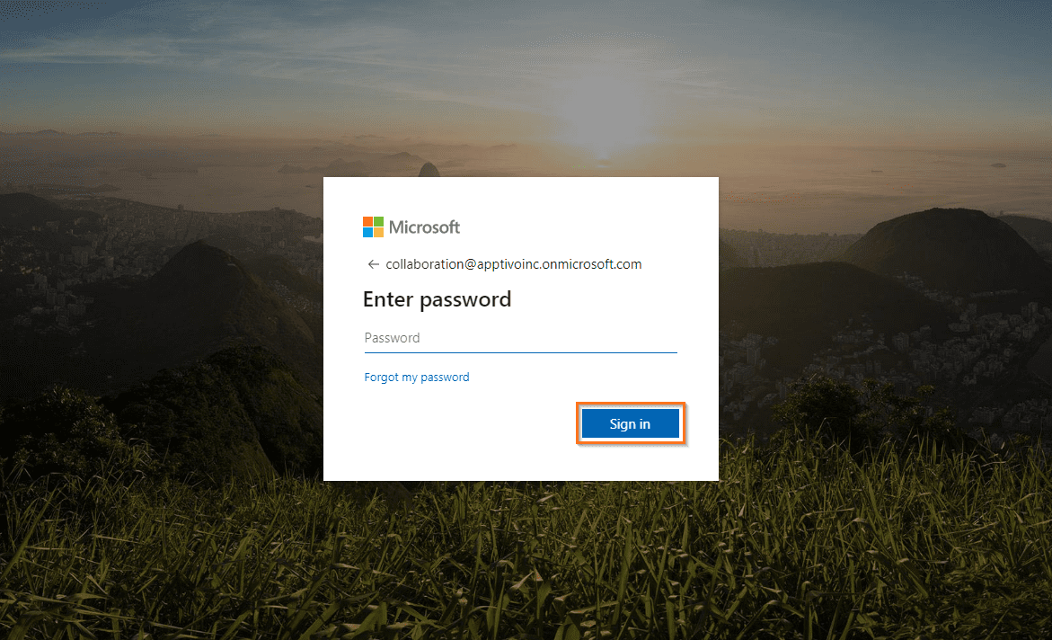 microsoft enter password