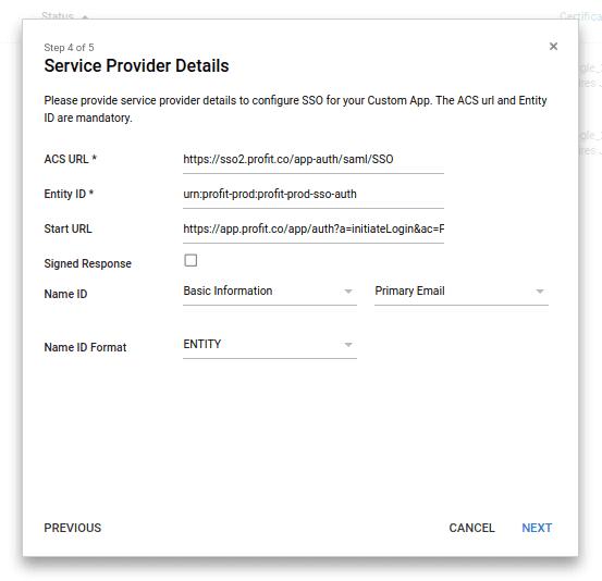 Step 4, Service provider details