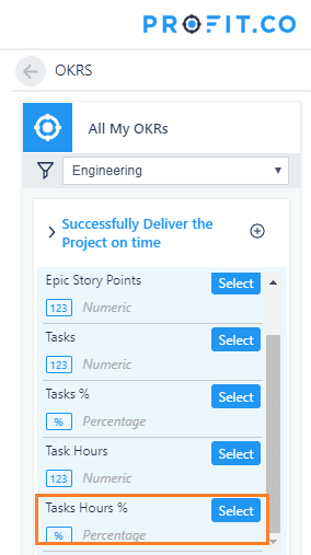 Profit OKR integration in jira